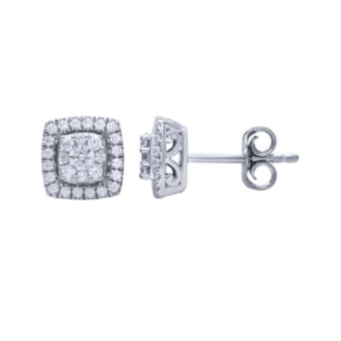 jcpenney.com | 1/2 CT. T.W. Diamond 14K White Gold Stud Earrings