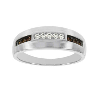 jcpenney.com | Mens 1/3 CT. T.W. White and Champagne Diamond 10K White Gold Ring