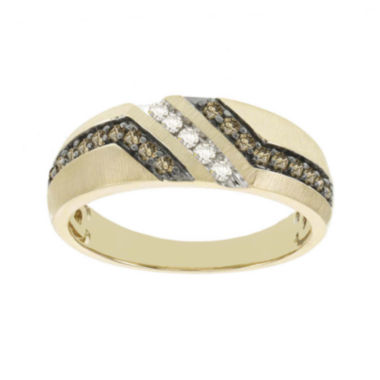 jcpenney.com | Mens 1/3 CT. T.W. White and Champagne Diamond 10K Yellow Gold Band