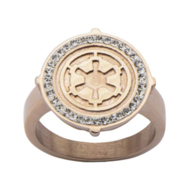 jcpenney.com | Star Wars® Rose Gold Ion-Plated Stainless Steel Galactic Empire Ring