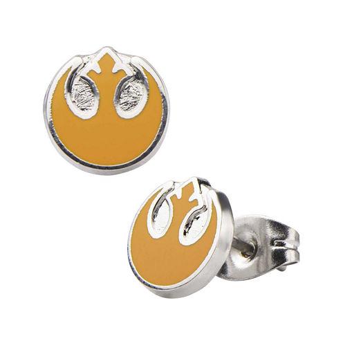 Star Wars® Stainless Steel and Enamel Rebel Alliance Stud Earrings