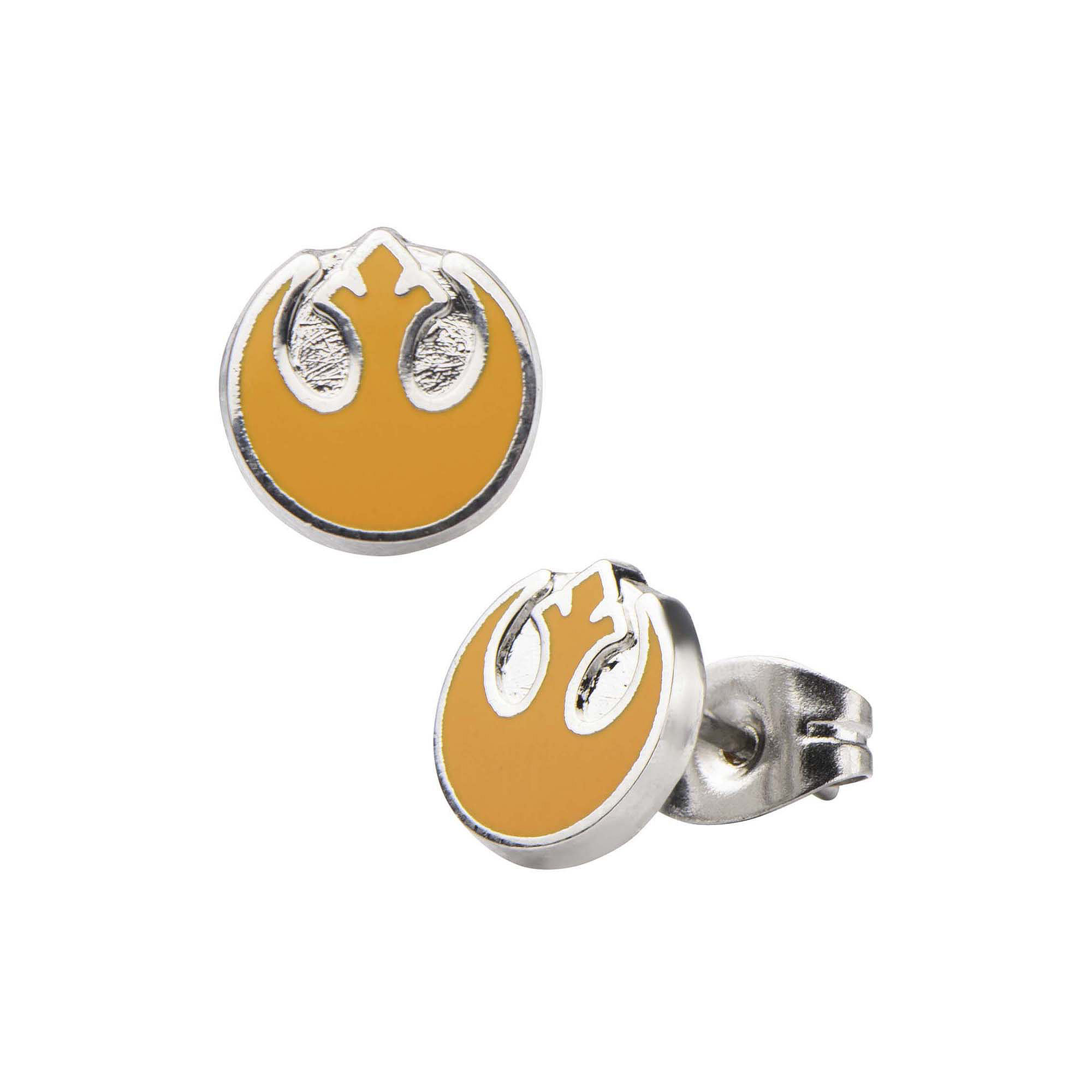 Star Wars Stainless Steel and Enamel Rebel Alliance Stud Earrings