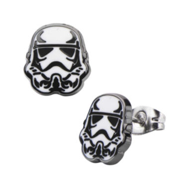 jcpenney.com | Star Wars® Stainless Steel and Enamel Stormtrooper Stud Earrings