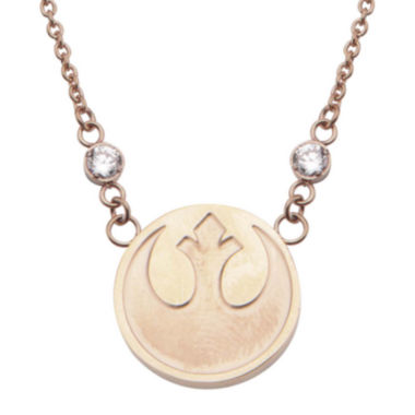 jcpenney.com | Star Wars® Stainless Steel Rebel Alliance Symbol Pendant Necklace