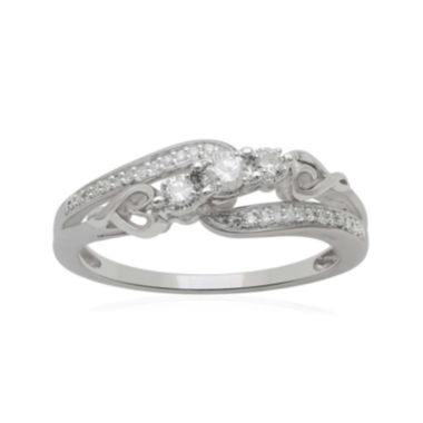 jcpenney.com | Hallmark Diamonds 1/5 CT. T.W. Diamond Heart Sterling Silver Ring