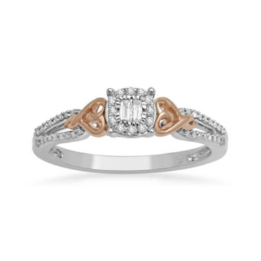 jcpenney.com | Hallmark Diamonds 1/5 CT. T.W. Diamond Heart Two-Tone Ring