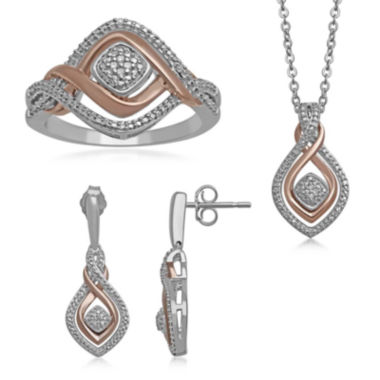 jcpenney.com | 1/10 CT. T.W. Diamond 3-pc. Two-Tone Infinity Jewelry Boxed Set
