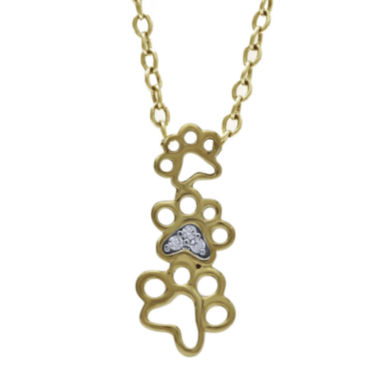 jcpenney.com | ASPCA® Tender Voices™ Diamond-Accent Paw Pendant Necklace