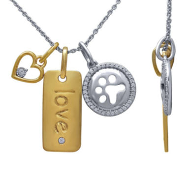 jcpenney.com | ASPCA® Tender Voices™ 1/6 CT. T.W. Diamond Two-Tone Charm Pendant Necklace