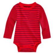 Okie Dokie® Striped Bodysuit - Baby Boy newborn-24m