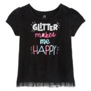 Okie Dokie® Holiday Tulle Tee - Baby Girls newborn-24m