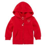 Okie Dokie® Full-Zip Fleece Hoodie - Baby Girls newborn-24m