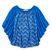 Speechless® Chevron Circle Top and Necklace - Girls 7-16