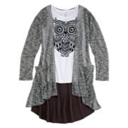 Knit Works Cardigan and Tank Top - Girls 7-16