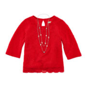 Speechless® Lace Crop Top and Necklace - Girls 7-16