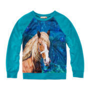 Speechless® Crushed Velvet Sweatshirt - Girls 7-16