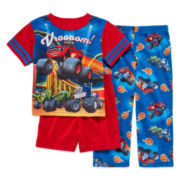 Blaze 3-pc. Pajama Set - Toddler Boys 2t-4t