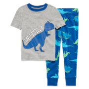 Okie Dokie® Dino Pajama Set - Toddler Boys 2t-4t