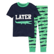 Okie Dokie® Gator Pajama Set - Toddler Boys 2t-4t