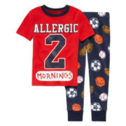 Okie Dokie® Sports Pajama Set - Toddler Boys 2t-4t