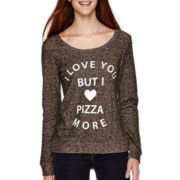 Miss Chievous Pizza Love Graphic Sweatshirt
