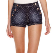 Arizona Dot High-Rise Denim Shorts