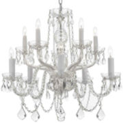 10-Light Venetian-Style Crystal Chandelier