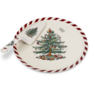 Spode® Christmas Tree Peppermint Porcelain Cake Plate and Server
