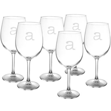 jcpenney.com | Cathy's Concepts Set of 6 Personalized White Wine Glasses