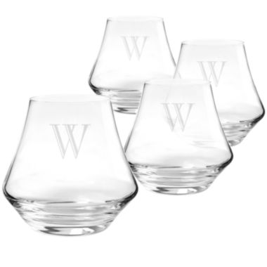 jcpenney.com | Cathy's Concepts Set of 4 Personalized Contemporary Whiskey Glasses