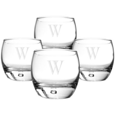 jcpenney.com | Cathy's Concepts Set of 4 Personalized Heavy Base Whiskey Glasses