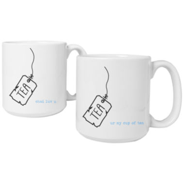 jcpenney.com | Cathy's Concepts Tea Time Set of 2 Personalized Large Coffee Mugs