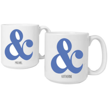 jcpenney.com | Cathy's Concepts Ampersand Set of 2 Personalized Large 20-oz. Coffee Mugs