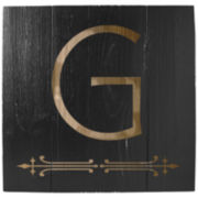 Cathy's Concepts Black Personalized Rustic Wood Wall Art
