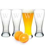 Cathy's Concepts Set of 4 Personalized Pilsner Glasses