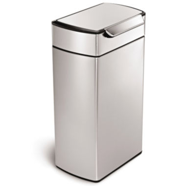 jcpenney.com | simplehuman® 40L Brushed Stainless Steel Trash Can