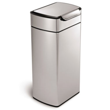 jcpenney.com | simplehuman® 30L Rectangular Touch-Bar Trash Can in Brushed Stainless Steel