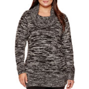 Alyx® Long-Sleeve Cowlneck Tunic Sweater - Plus