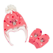 Disney Baby Collection Minnie Mouse Hat and Mittens Set - Baby Girls newborn-24m