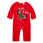 Disney Baby Collection Mickey and Minnie Christmas Romper - Baby Boys newborn-24m