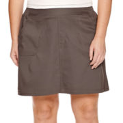 Made For Life™ Woven Skort with Knit Waistband - Plus