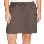 Made For Life™ Curved-Side Vent Woven Skort - Plus