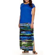 a.n.a® Lace Yoke T-Shirt or Side Slit Maxi Skirt - Plus