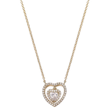 jcpenney.com | Gold Reflection Womens Cubic Zirconia Gold Over Brass Pendant Necklace