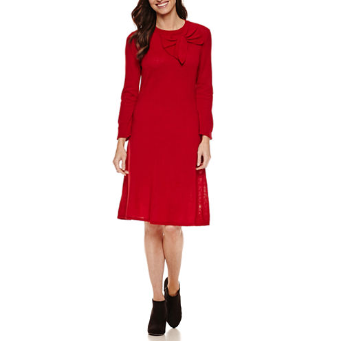 Ronni Nicole 3/4 Sleeve Sweater Dress