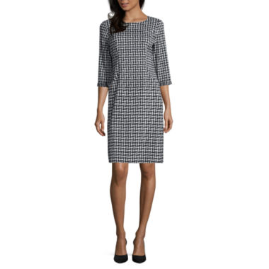 jcpenney.com | Perceptions 3/4 Sleeve Shift Dress
