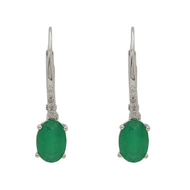 jcpenney.com | LIMITED QUANTITIES! Diamond Accent Green Emerald 14K Gold Drop Earrings