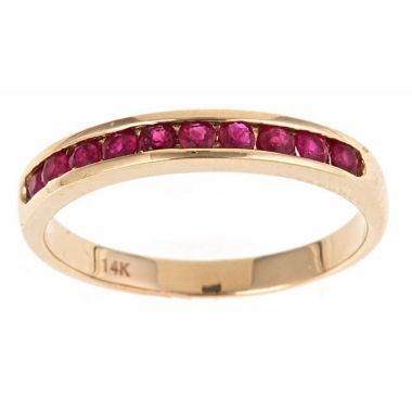 jcpenney.com | Womens Red Ruby 10K Gold Band