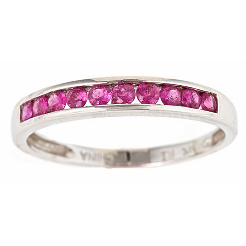 LIMITED QUANTITIES! Womens Pink Sapphire 10K Gold Band