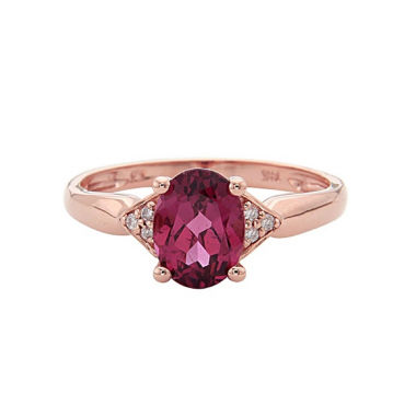 jcpenney.com | LIMITED QUANTITIES! Womens Diamond Accent Red Rhodolite 14K Gold Cocktail Ring